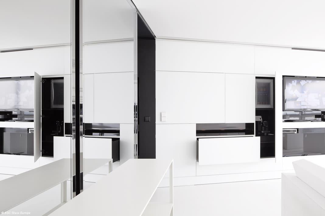 Habillage de meuble en verre laqué mat blanc - Matelac White Pure