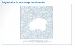 Fragmentation du verre trempé thermiquement