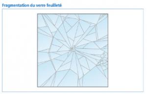 Fragmentation du verre feuilleté